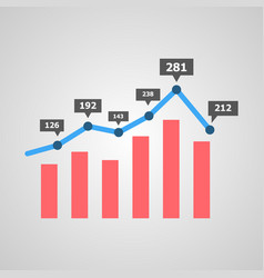 graph with digits markers vector image