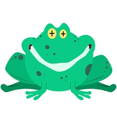 Green Frog Smiling vector image