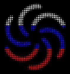 Halftone russian galaxy icon vector
