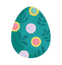 Happy easter decorative egg ornament season icon vector