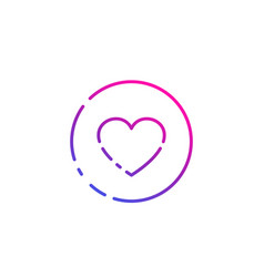 heart linear icon vector image
