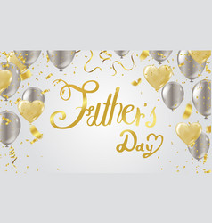I love you dad cute background with fathers vector