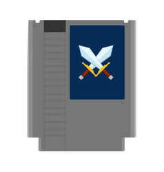 Isolated videogame cassette icon vector