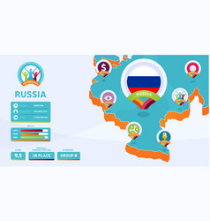 Isometric map russia federation country vector