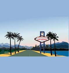 Las vegas city skyline travel usa background vector