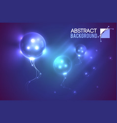 Luminescent futuristic balloons background vector