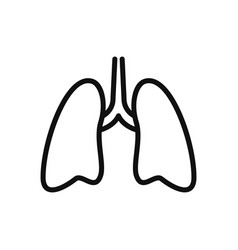 lungs icon in modern design style for web site vector image