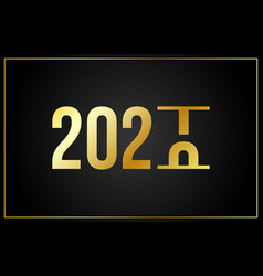 luxury 2021 happy new year elegant design - of vector image