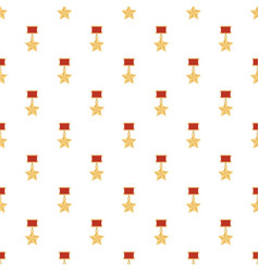 Medal pattern seamless vector