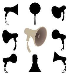 megaphone silhouette vector image