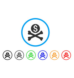 mortal debt rounded icon vector image vector image