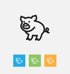 of zoo symbol on piggy outline vector image