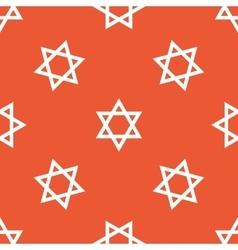 Orange Star of David pattern vector