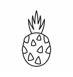Pitaya dragon fruit icon outline style vector