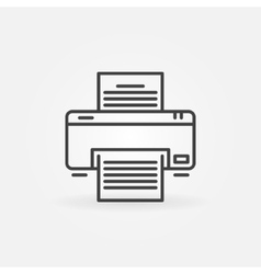 Printer linear icon vector