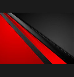 Red black contrast abstract corporate background vector