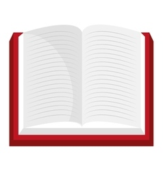 Red open book isolated icon vector