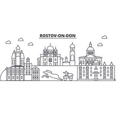 Russia rostov on don architecture line skyline vector