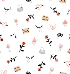Sad valentines day pattern vector
