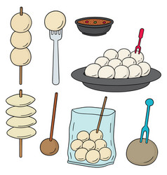 Set of meatball vector