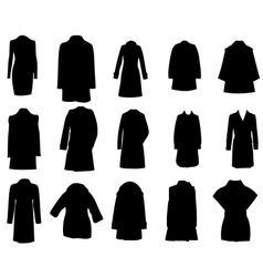 Silhouette coats eps10 vector