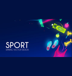 sport and fitness shining background cool vector image