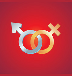 symbol of gender identity male and female symbol vector image