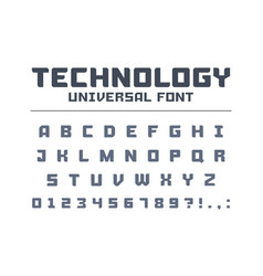 technology universal poster font type strong vector image