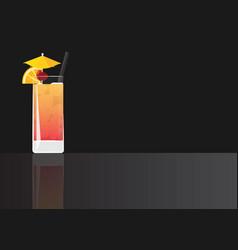 tequila sunrise vector image