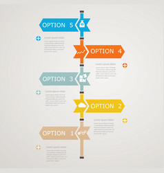 Timeline infographic with business icons vector