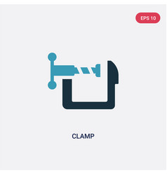 Two color clamp icon from industry concept vector