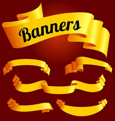 yellow banners vector image