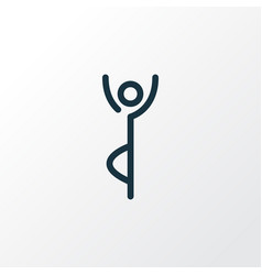 Yoga pose icon line symbol premium quality vector