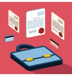 Business 3d documents concept vector image vector image