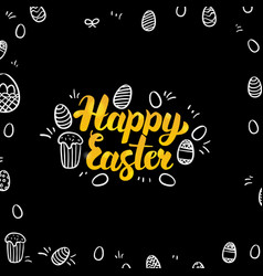 easter gold and black design vector image vector image