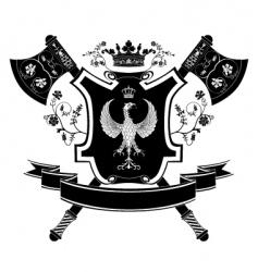 heraldry coat of arms vector image