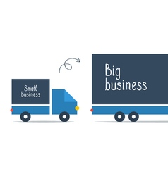 Logistics business big and small delivery truck vector image
