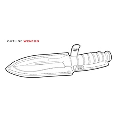 outline knife vector image vector image