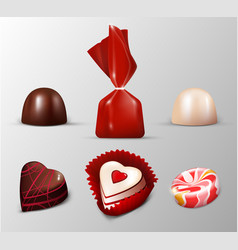 Realistic sweets collection vector
