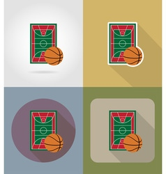sport flat icons 62 vector image