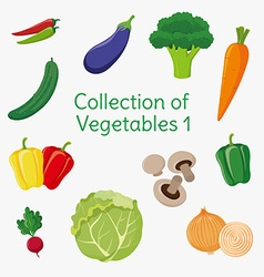 Vegetables 01 vector image vector image