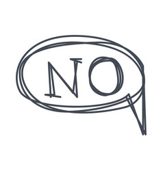 word no hand drawn comic speech bubble template vector image