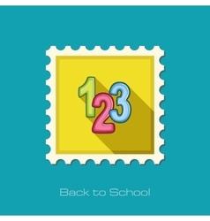 123 blocks flat stamp vector image
