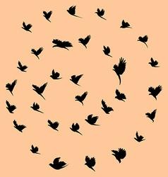Birds and tornado vector image