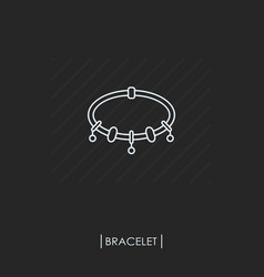 bracelets with charms outline icon isolated vector image