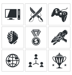 eSports icons set vector image vector image