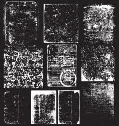 grunge overlays vector image vector image