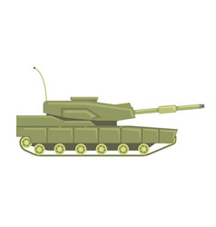 military tank with cannon military combat vehicle vector image vector image