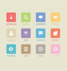 Mobile and tablet app icons 4 vector image vector image
