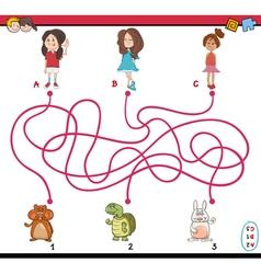 path maze cartoon vector image vector image